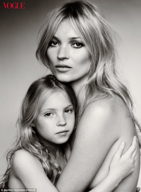 Kate Moss And Eight-Year-Old Daughter Lila Grace Pose For Vogue