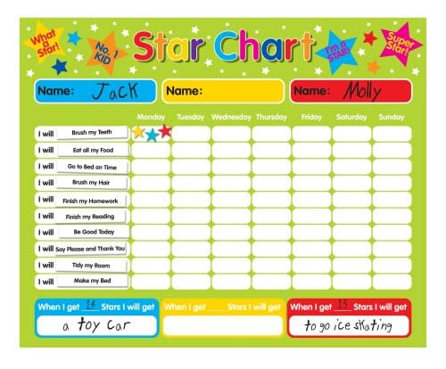 children rewards chart