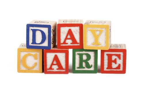 Day care spelling blocks