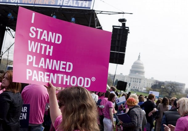 Planned parenthood pink sign