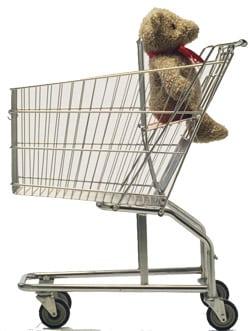 shopping cart bear