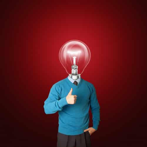 man lightbulb