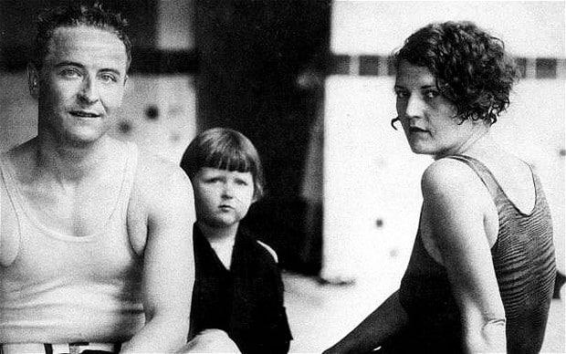 F. Scott Fitzergald with Zelda and Scottie