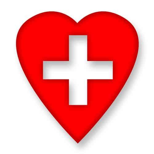 heart and hospital cross