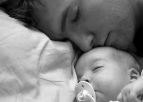 co-sleeping dad