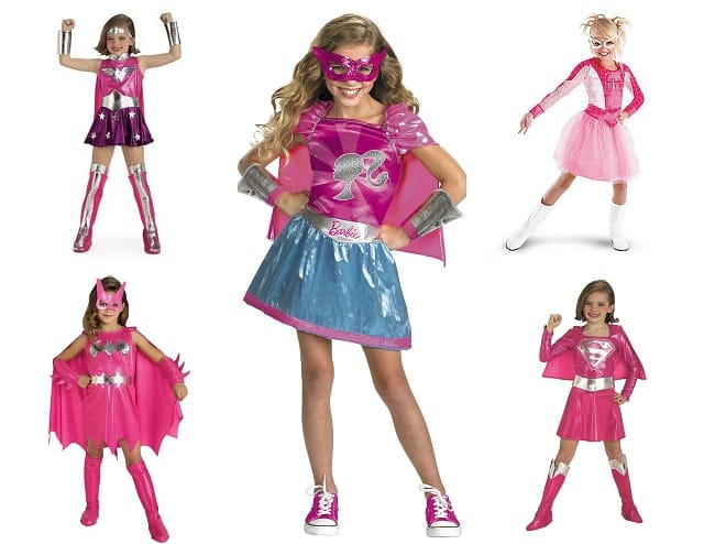 Dear Retailers Stop Making Superhero Costumes Pink And Saying Theyu0027re For Girls  sc 1 st  Mommyish & Childrenu0027s Halloween Costumes: Pink Superheroes Donu0027t Exist