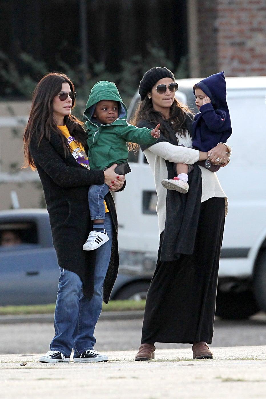 Look At Sandra Bullock And Camila Mcconaughey Momming Out
