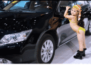 Toddlers In Bikinis Modeling For Chinese Auto Show