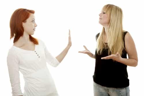 moms arguing