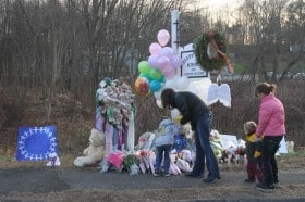 Pictures of Sandy Elementary School and pictures from Newtown, CT