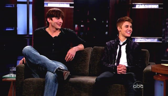 Ashton Kutcher and Justin Bieber