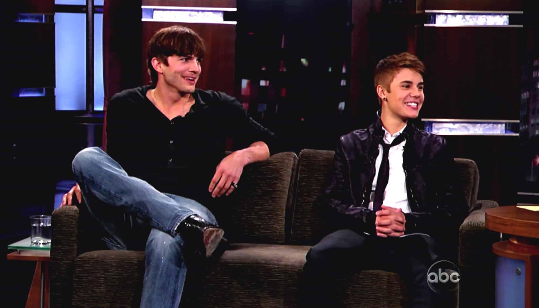 Ashton Kutcher and Justin Bieber