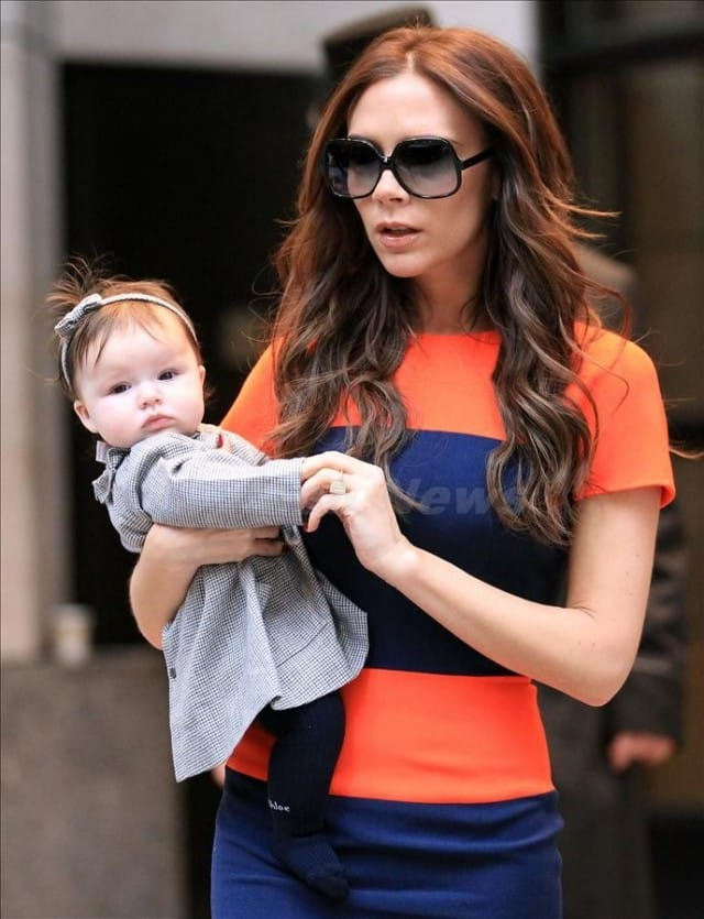 Victoria Beckham out and about with Harper Seven in NYC