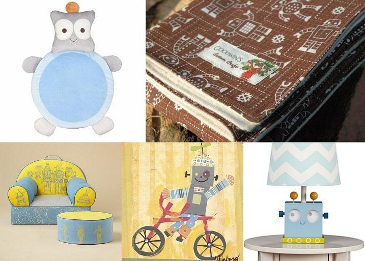 Best baby nursery unique decor child 39 s bedroom ideas for Robot baby room decor