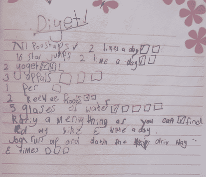 Upon Deciphering The Eerie Diet Notes Of A 7 Year Old Amy Falls Into Litany Questions About Her Parenting