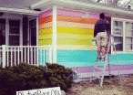 9-Year-Old 'Protester' Inspires Humanitarian To Paint A Rainbow Flag House Across From Westboro Baptist Church