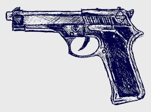 gun drawing