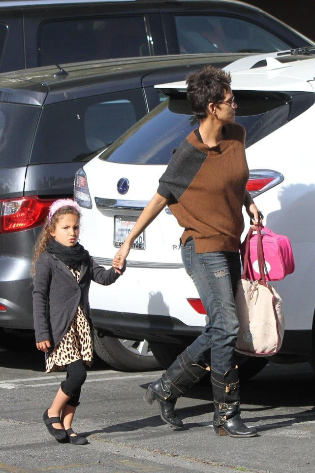 Halle Berry takes daughter Nahla Aubry on a school run