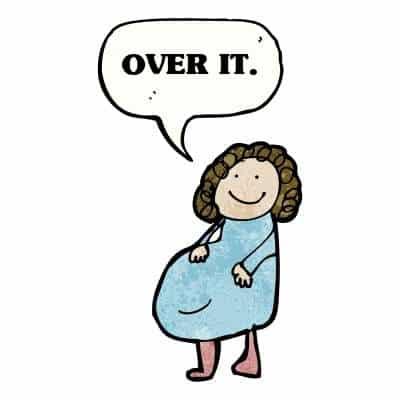over it pregnancy cartoon