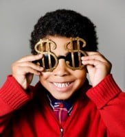 Money Glasses Happy Kid