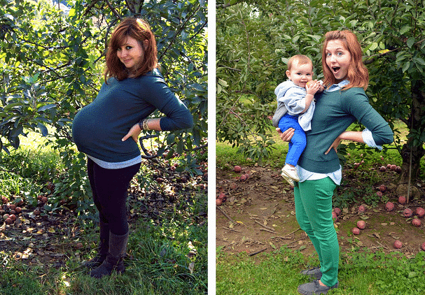 pregnant woman one year later