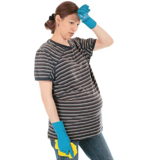 pregnant rubber gloves