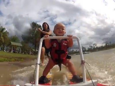 baby waterski