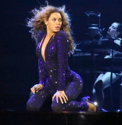 beyonce at the Mediolanum Forum in Milan, Italy, on her The Mrs. Carter Show World Tour