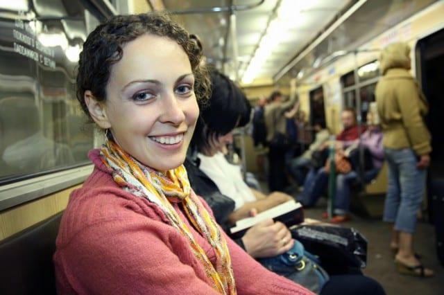 nice woman on the subway
