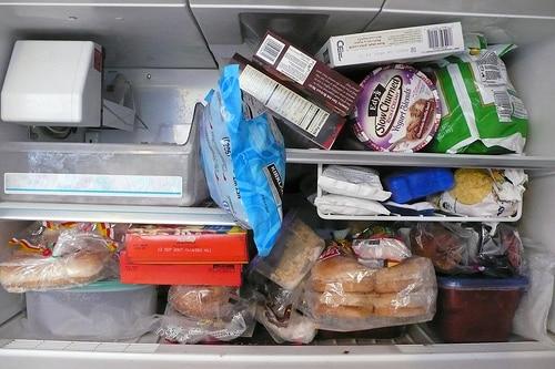 packed freezer