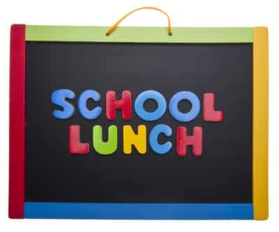 school lunch black board