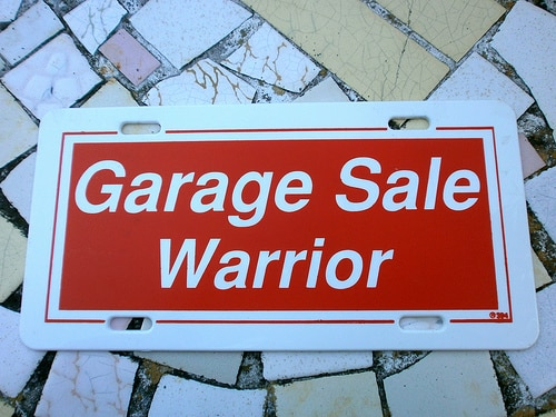 garage sale warrior