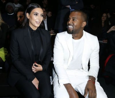 kim kardashian and kanye west Paris Fashion Week