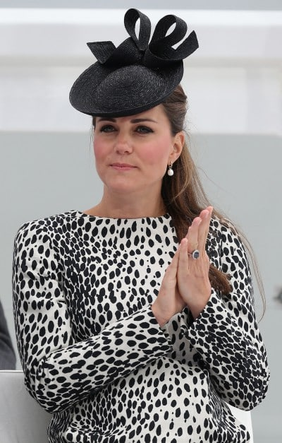 Catherine, Duchess of Cambridge attends a Princess Cruises ship naming ceremony at Ocean Terminal