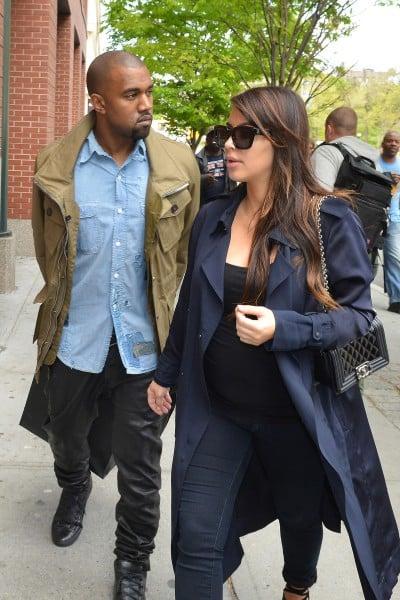 Kim Kardashian and Kanye West shopping in Soho