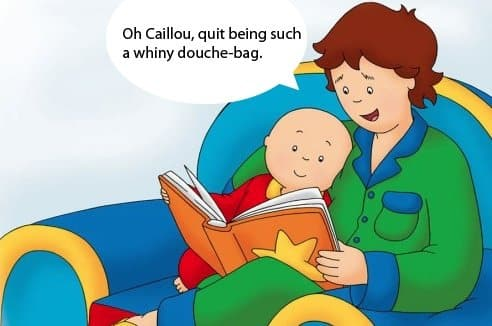 foto de Parents Hate Caillou And They Hate Him With A Passion