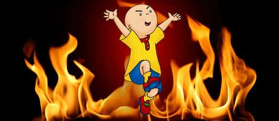 caillou-flames