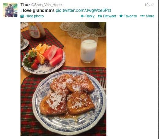 grandma breakfast