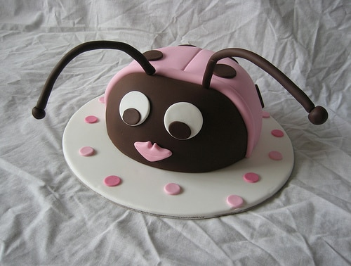 lady big baby shower cake