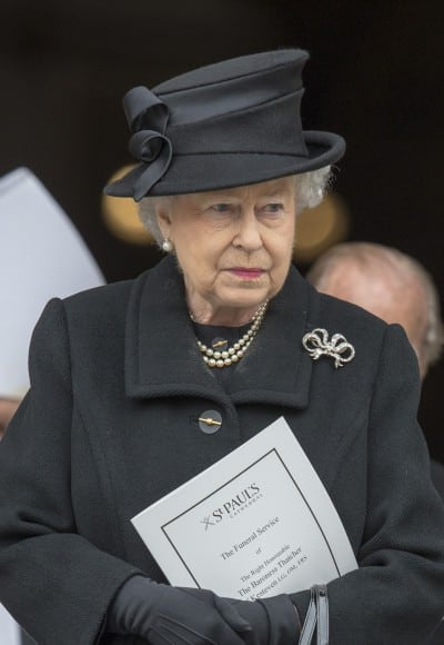 queen elizabeth The funeral of Baroness Thatcher at St Pauls Cathedral