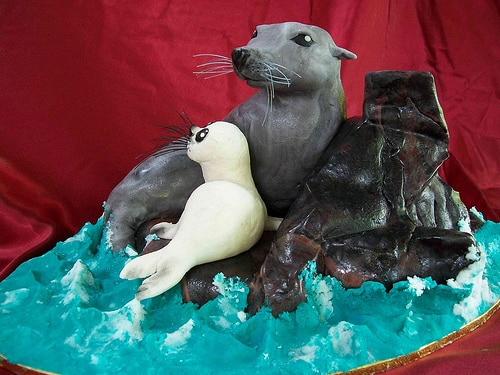 seal baby shower cake