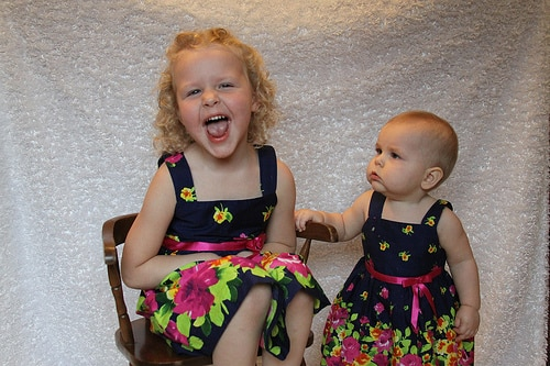 siblings matching dresses