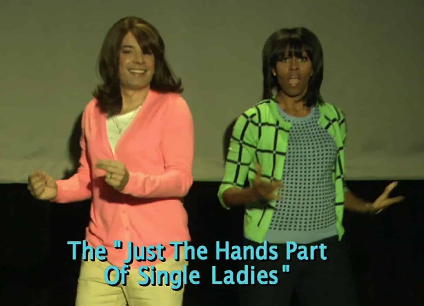 Michelle Obama boosts anti-obesity campaign with Jimmy Fallon dance-off
