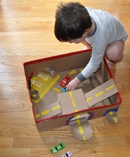 10 amazing cardboard box crafts for kids for Craft box for toddlers