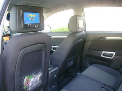 Dvds in car each seat
