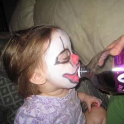 baby drinking faygo