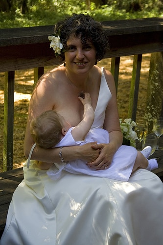 breastfeeding wedding