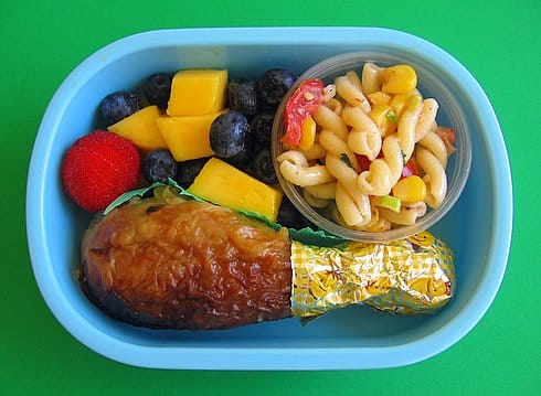 For a smaller, lighter-weight bento lunch box option that's ideal for toddlers on the go, opt for the YUMBOX Leakproof Bento Lunch Box. The YUMBOX holds just the right amount of food for toddler tummies, and the toddler lunch box is designed to keep even applesauce and yogurt from spilling out.