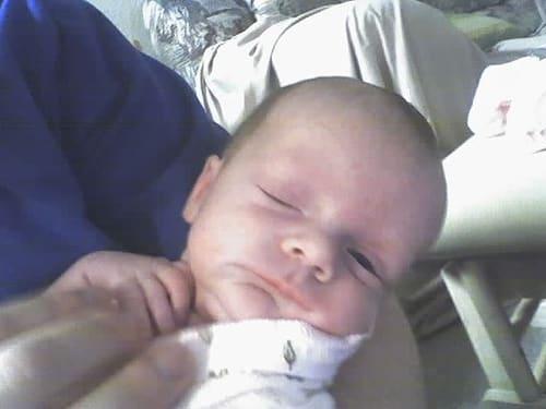 half awake baby