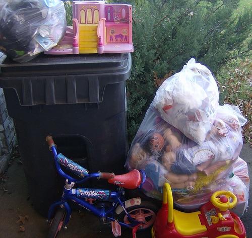 old kids toys garbage